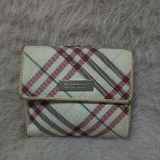 Authentic Burberry blue label b fold wallet