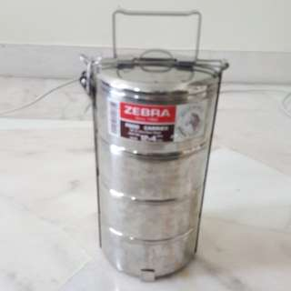Zebra Stainless Steel Tiffin Box / Mangkuk Tingkat