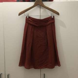 PL skirt maroon