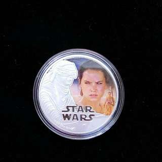 Star Wars The Last Jedi - Rey Plated Silver Coin