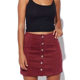PARE BASIC Shelby Skirt Burgundy