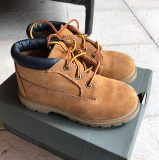 Timberland Yellow boots for kids uk10