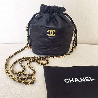 AUTHENTIC CHANEL Bucket Crossbody Sling Bag