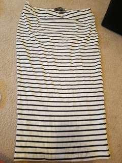 Black and white skirt- never worn