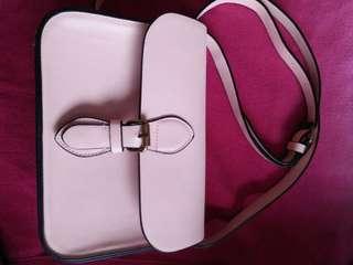 Bershka light pink bag - original @1K