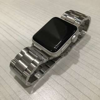 Apple watch band for series 1/2/3 (38/42mm) stainless steel strip wrist band replacement