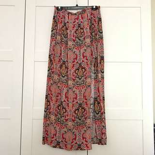 Floral Maxi Dress Size 14 Red