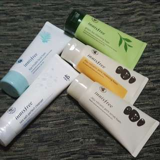 Innisfree Jeju Volcanic Pore / Green tea Cleansing Foam / white pore cleanser / sea salt perfect / bija trouble