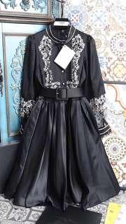 香奈兒 Chanel 長袖蓬蓬式腰帶 連衣裙
