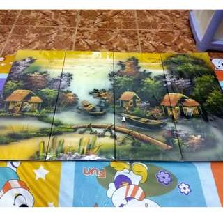 Paintings, Rice Art and Lacquered Wood Paintings For Sale