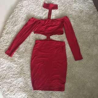 Reverse Cutout Choker Dress (S/M)