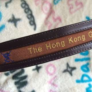 THE Hong Kong GOLF CLUB leather belt 香港哥爾夫球會皮帶