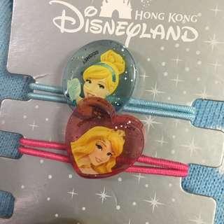 迪士尼公主系列髮圈 ㄧ條$100