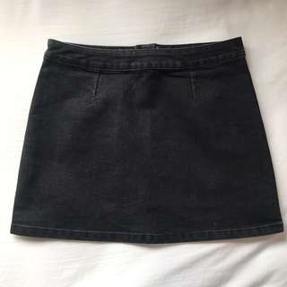Size 8 Black Denim Skirt