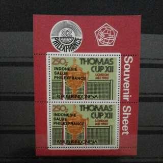 SS CT Hitam Perangko Thomas Cup 1982