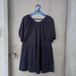 Grey Doll Dress Blouse XL / Free Size