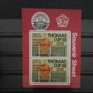 SS CT Merah Perangko Piala Thomas 1982