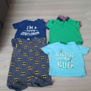 4pcs from mothercare, h&m