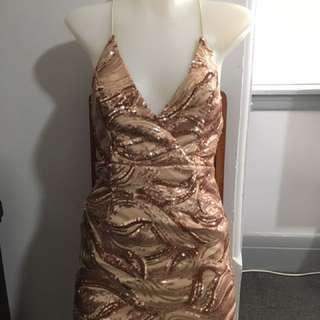 Rose Gold Sequin Dress
