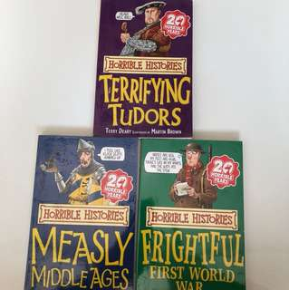 Horrible Histories - Terrifyjng Tudors, Measly Middle Ages, Frightful First World War