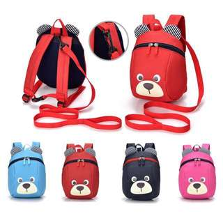 [FREE POSTAGE SM ] Teddy bear backpack with strap, safety back pack, kids beg