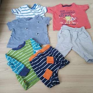 Preloved 6pcs - Babygap Next Mothercare Little Rebel
