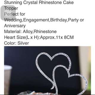 Brand New Instocks Rhinestones Cake Topper