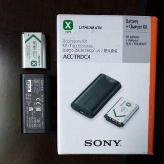 Sony ACC-TRDCX Battery NP-BX1 & Charger BC-DCX Accessory Kit