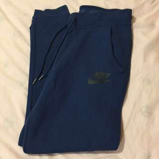 正版Nike 籃色 運動棉褲 束口褲 縮口褲