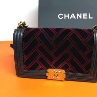 Chanel boy 25 cm full set with receipt