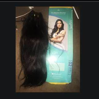 Weave 100% Human Hair Extension,50cm Long, Black