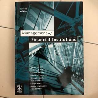Management of Financial Institution 2nd Edition