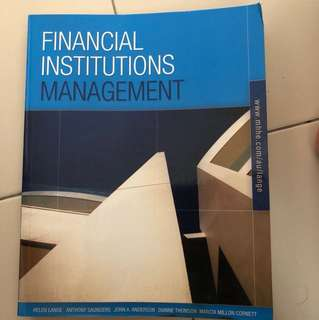 Financial Institution Management McGrawHill