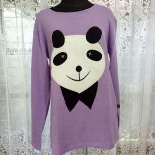 Panda purple sweater