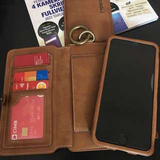 Wallet phone for Iphone 7 +