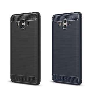 華為HUAWEI Mate 10 專用四邊全包碳纖維配鋼絲紋手機軟殼 保護軟套TPU Case GSA3752A