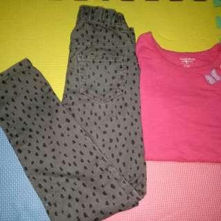 Take all H&M Skinny pants& Toughskin top(6-7y/o)
