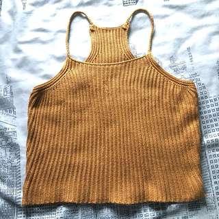 Knitted Halter Croptop