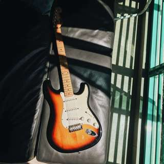 Wonderfully modified Fender squire made in Korea (Mik)
