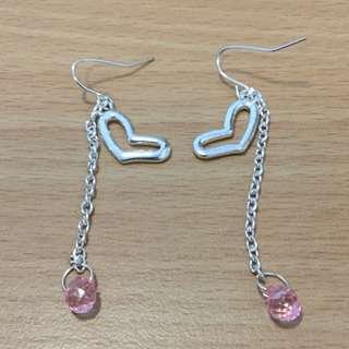 Ear ring ( Heart shape hanging type)