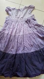 Preloved purple tone dress