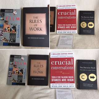 Various self help books