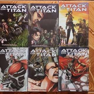 Attack on Titan 1-6