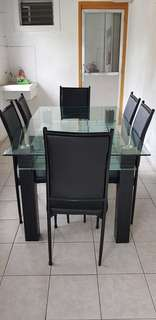 In Good Shape 6 Seater Tampered Glass Table! Sale!