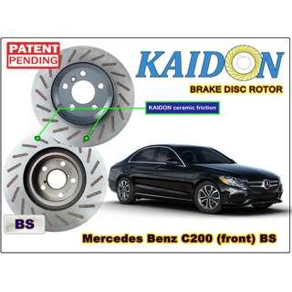 "Mercedes Benz C200 disc rotor KAIDON (front) type ""BS"" spec"