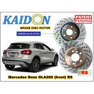 "Mercedes Benz GLA200 disc rotor KAIDON (front) type ""RS"" spec"