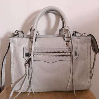 100% real Rebecca minkoff grey handbag 95% new from USA