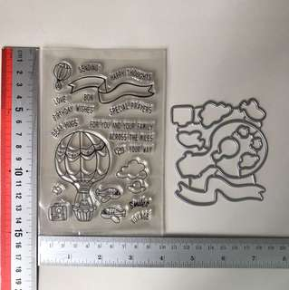 Stamp and die set for scrapbooking