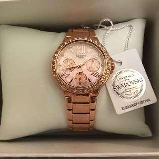 Casio Sheen 玫瑰金超美手錶