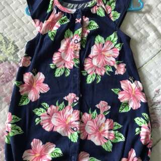 Preloved Carter's Babygirl Romper